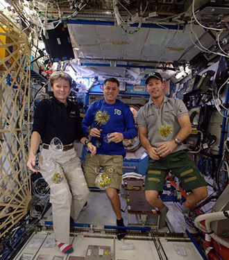 Happy NewYear from NASA Astronaut Peggy Whitson, Shane Kimbrough, Thomas Pesquet, and the whole International Space Station crew! Image NASA