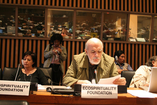 Giancarlo Barbadoro e Rosalba Nattero all'ONU di New York come delegati della Ecospirituality Foundation