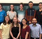 The 2019 CERN Beamline for Schools winners: (from left) Team from the West High School in Salt Lake City, USA (Image: Kara Budge) and team from the Praedinius Gymnasium in Groningen, Netherlands (Image: Martin Mug)