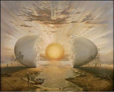 Un significativo dipinto del pittore Vladimir Kush