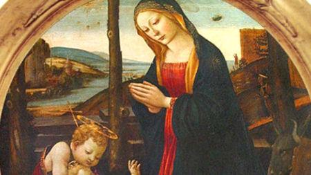 In un quadro del '400 esposto a Palazzo Vecchio, Firenze, compare la Madonna con Bambino, probabilmente realizzato da un allievo di Filippo Lippi. Sullo sfondo sembra raffigurato un UFO