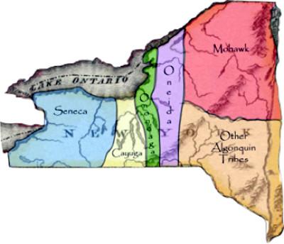 La configurazione geografica delle Nazioni Irochesi è parte integrante della struttura decisionale, e del bilanciamento dei poteri, descritte nella Gayanashagowa
