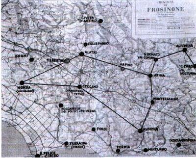 La Costellazione del Leone riprodotta dall'unione delle città megalitiche del Lazio