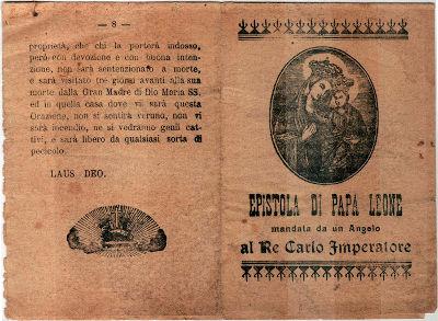 Epistola di Papa Leone III a Carlo Magno in formato libretto