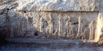 Bassorilievi del sito archeologico di Faida