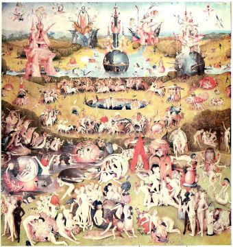 Hieronymus Bosch, Trittico delle Delizie (pannello centrale) – un'opera intrisa di elementi di chiaro riferimento alchemico