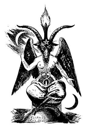 Il motto alchemico del Solve et Coagula rappresentato dall'iconografia dell'idolo della cultura esoterica araba Baphomet