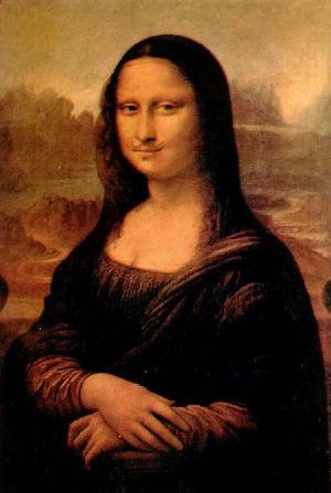 La celebre e dissacrante versione della Monna Lisa ad opera di Marcel Duchamp, una punta di diamante dell'espressione artistica del Dadaismo